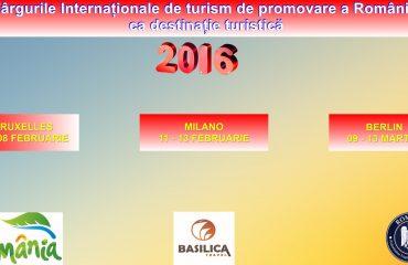 AGENTIA BASILICA TRAVEL PREZENTA SI LA TARGURILE INTERNATIONALE DE TURISM PENTRU PROMOVAREA ROMANIEI CA DESTINATIE TURISTICA