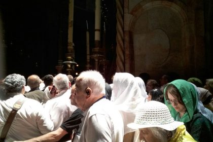 Un nou grup de pelerini se află în Țara Sfântă